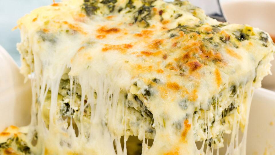 Cheesy Spinach and Artichoke Lasagna