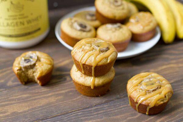 Peanut Butter Banana Protein Muffins (grain free, gluten free)