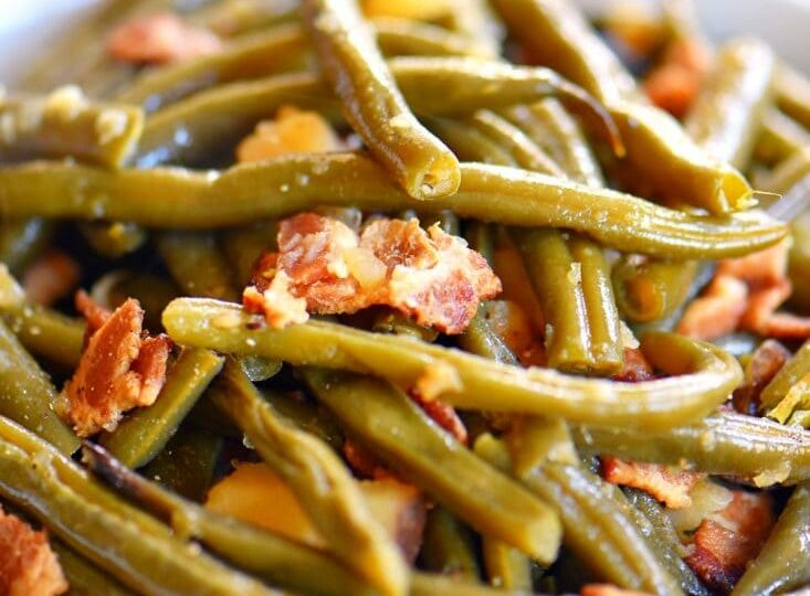 Slow Cooker Green Beans with Bacon